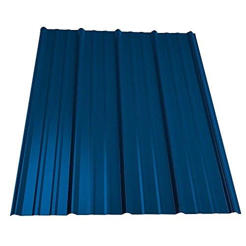 - 12 ft. Classic Rib Steel Roof Panel in Ocean Blue