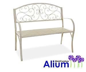 Alium Cipriani Cream Steel Bench