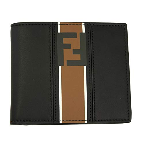 Fendi Forever Men's Black Leather Bi-fold Wallet 7M0169 A1R2