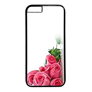 Sweet Love Design PC Black Case for Iphone 6 Flowers in Bud wangjiang maoyi
