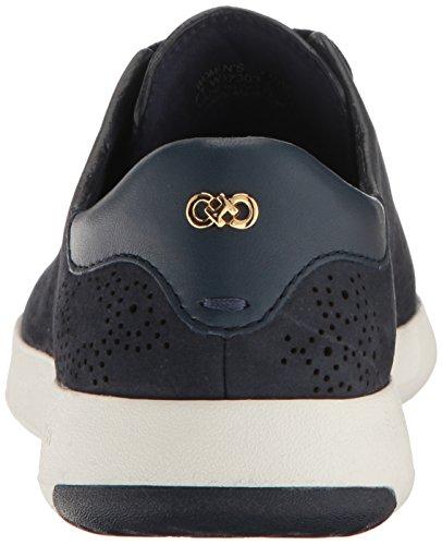 Cole Haan Kvinna Grandpro Paisley Perforerad Mode Sneaker Marinblå