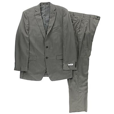 Calvin Klein Mens Slim Fit Pindot Two-Button Suit
