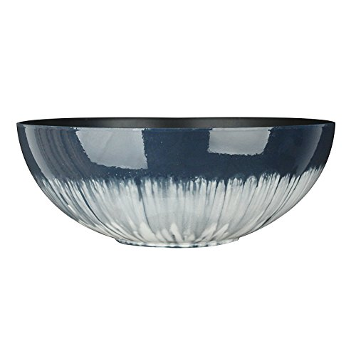 Fantastic:)™ 12-INCH Shinny Finish Design Decorative Bowl Planter-NO DRAIN (Glaze Blue)