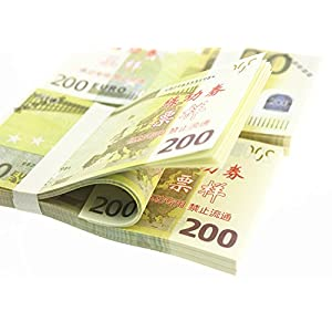 Euro $200X100 Pcs Total $20,000 Dollar Currency Props Money Bills Real Looking New Style Copy Double-Sided Printing - for Movie, TV, Videos, Advertising & Novelty