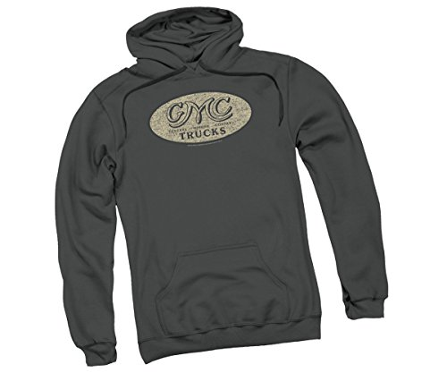 (GMC Vintage Oval Logo Adult Hoodie Sweatshirt, XX-Large)