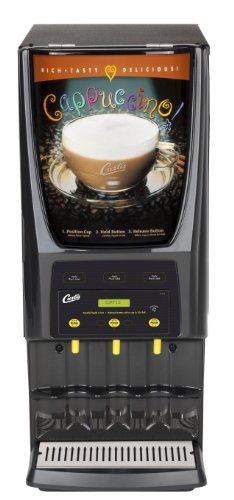 (Wilbur Curtis G3 System 3 Station Cappuccino (One 5 Lb And Two 10 Lb Hopper), With Lift Door, Dual Voltage - Commercial Cappuccino Machine - PCGT3300 (Each))