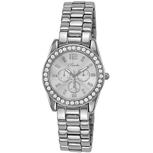Breda Women's 5188-silver Adele Mini Boyfriend Rhinestone Accented Bracelet Watch