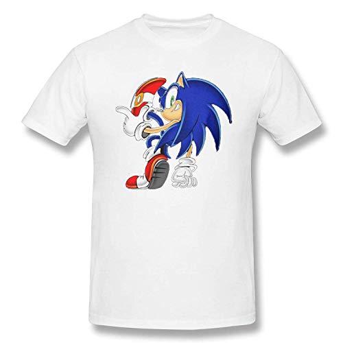 (Sonic-Hedgehog T Shirt Funny Unisex Cotton Shirt Best Gift Idea Men Women Youth Boys Top Black)