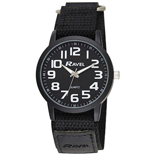 Ravel Men's Quartz Watch with Nylon Strap, Black, 20 (Model: R1601.64.33)