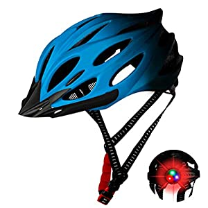 Deeabo Bicycle Helmet, Safety Adjustable Mountain Road Cycle Helmet Light Bike Helmet, CE Certified Lightweight Impact Resistant Adjustable Cycling Helmet for Men Women, Red