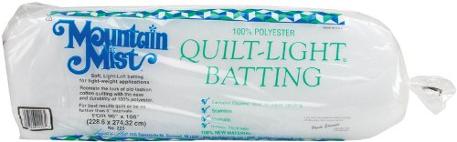 - Mountain Mist Batting Quilt-light Polyester Batting-queen Size 90 Inches x 108