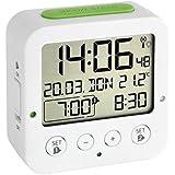 TFA 60.2528.02 - Reloj despertador digital, color blanco