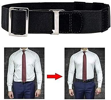 Near Shirt-Stay Best Shirt Stays Black Belt Mens Shirt Tucked