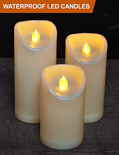Nativity Pillar Candle - HOME MOST Set of 3 LED Pillar Candles Battery Operated (CREAM, 5