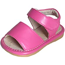 Squeaky Shoes Toddler Girls Pink Leather Sandals