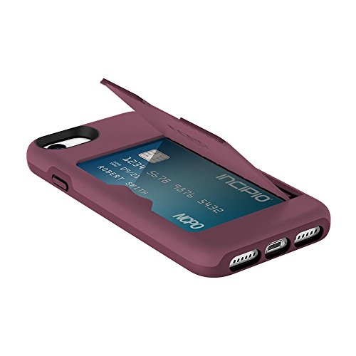 Incipio IPH-1477-PLM Apple IPhone 7/8 Stowaway Credit Card Hard Shell Case With Silicone Core - (Incipio Wireless Cell Phone)