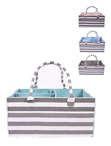 Arabella Baby Diaper Caddy Organizer - Large Tote Bag for Newborn Essentials - Unisex Nursery Storage Basket for Changing Table or Car - Holder for Craft Stuff and Baby Shower Registry Must Haves!