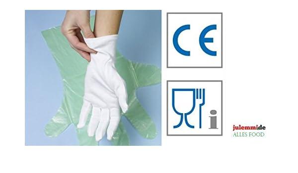 Guantes de algodón blanco Tamaño M/L/XL/XXL - pulir Guantes Debajo ...