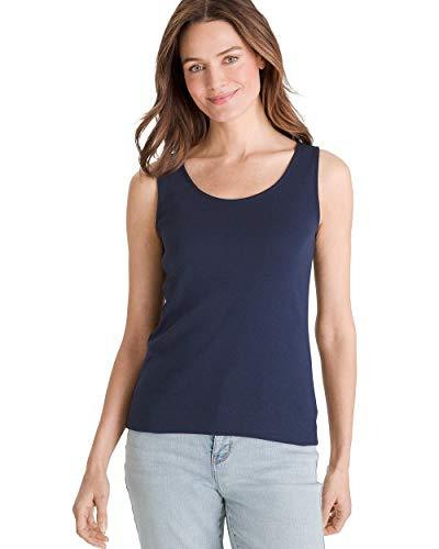 Chico's Women's Supima Cotton Convertible Tank Size 12/14 L (2) - Reversible Cotton Shorts
