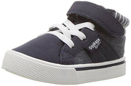 OshKosh B'Gosh Boys' Merle Zip Sneaker, Navy, 12 M US Little Kid