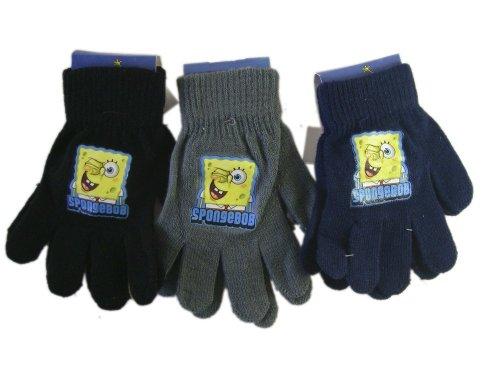 Nickelodeon Spongebob Squarepants Grey Magic Stretch Spongebob Gloves - Spongebob Mittens (Grey Pair Only) ()