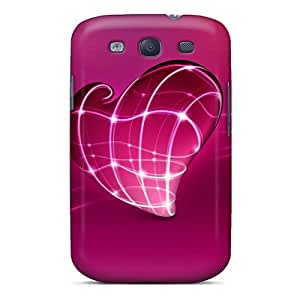 HTyOpXu4964dWEBw Anti-scratch Case Cover AlfredJWhite Protective 3d Heart Case For Galaxy S3