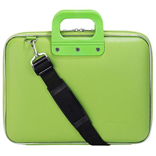 13.3 Inch 14 Inch Laptop Carrying Case Shoulder Portfolio Bag Fit MSI, Dell, Acer, Asus, Razer, Gigabyte, LG, Green (Notebook Dell Inspiron Gaming Edition I15 7559 A10)