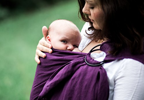 b94e1ac0880 Bibetts Pure Linen  Plum  Ring Sling Baby Carrier - CPSIA compliant - Infant