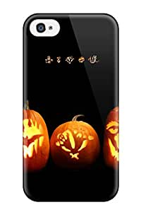 New Style ZippyDoritEduard Hard Case Cover For Iphone 4/4s- Happy Pumpkin Lanterns