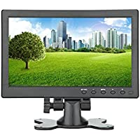 Lancevon- 10.1 inch HDMI VGA HD LCD Monitor display screen ; Work for raspberry pi 3 monitor screen /for CCTV security - 1024x600 Video Audio inputs -Build in speaker