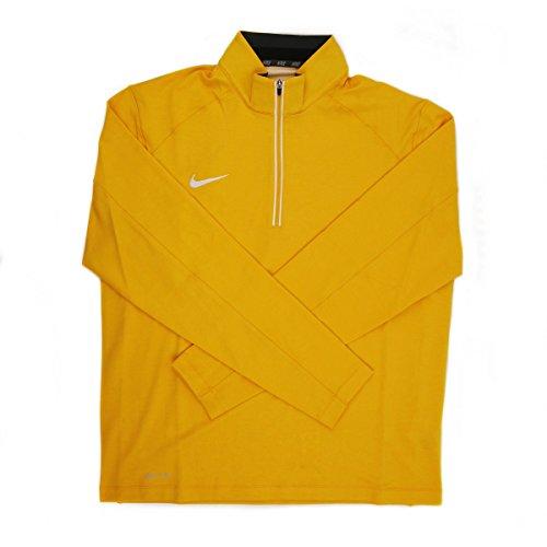 Nike Dri-FIT Men's Yellow/White 1/4 Zip Pullover Jacket - Medium (Yellow Jacket Nike)