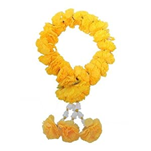 wonderflowers Big Size Artificial Yellow Marigold Garland for Make a Wish 53