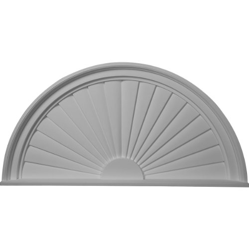 Ekena Millwork PED36X18X02SB Pediment, Factory Primed White ()