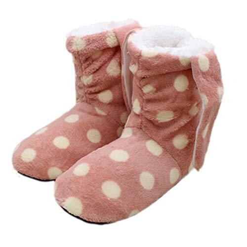 Rose Doux Hiver Chambre Plancher De Chaussures feuillets Flip Chaussons Bas Chaud Femme Coton Pour Accueil A Non Flops Rayé D'intérieur 1U5qdw5