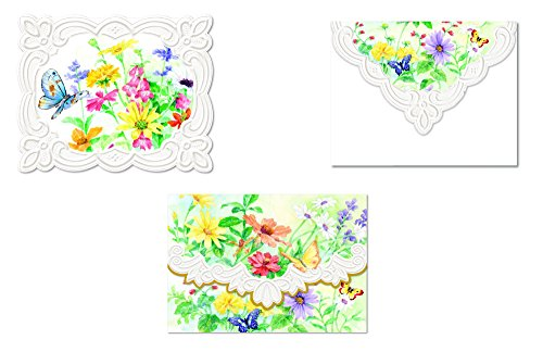 Carol Wilson Fine Arts Inc., Spring Fling Note Card Collection - 4 Designs - 24 Portfolio Boxes with 10 Note Cards Each- ncppack8x6 by For Arts Sake Cards and Gift
