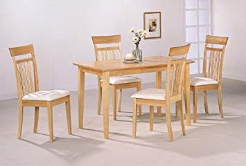 Amazon.com - 5 Piece Dining Set in Maple Finish - Table & Chair Sets