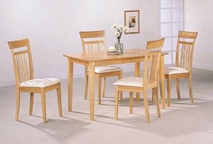 Amazon.com - Maple Finish 5 Piece Dining Set - Chairs