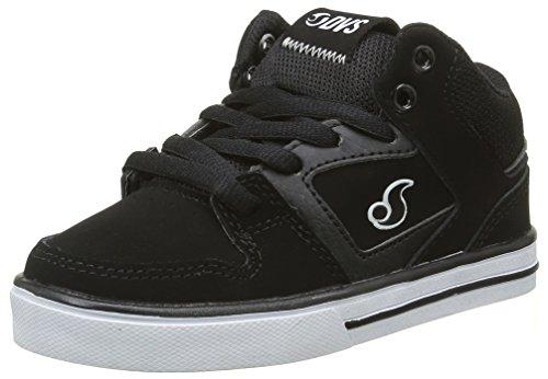 DVS APPAREL Everett Mid, Zapatillas de Skateboarding para Niños Negro - Noir (001)