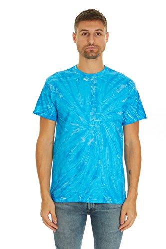 - Krazy Tees Tie Dye T-Shirt, Neon Blueberry, L