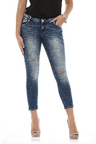 Xgeorgia Misto Denim Met In Cinque Sbiadito Donna Cotone Jeans Tasche Slim Effetto CdwxqOUq