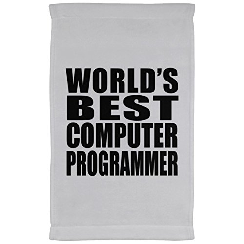 (Designsify World's Best Computer Programmer - Kitchen Towel, Microfiber Velour Towel, Best Gift for Birthday, Anniversary, Easter, Valentine's Mother's Father's Day)