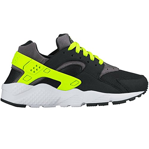 nike huarache run (GS) trainers 654275 sneakers shoes (3.5 M US BIG KID, black volt dark grey white 017)