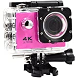 Creazy 2018 Waterproof 4K Wifi HD 1080P Ultra Sports Action Camera DVR Cam Camcorder (Pink)