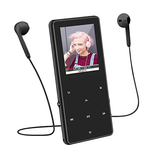 MP3 Player / MP4 Player with Bluetooth 4.1, 8GB Lossless Sound Music Player with FM Radio, Voice Recorder, Video Play, Text Reading, Expandable Up to 128 GB