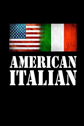 American Italian: USA Italy Flag Pride Gift Notebook