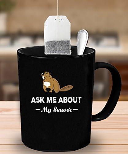 Beaver Coffee Mug 11 Oz Beaver Funny Gift Kitchen Dining Amazon Com