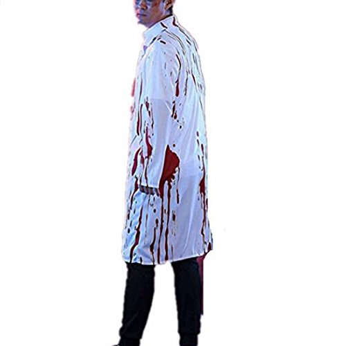 Halloween Horrible Bloody Nurse Doctor Ghost Cosplay Costume Uniform Suit For Adult (M, -
