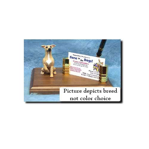 Michael Park Italian Greyhound (Brindle) Desk Set ()