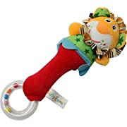 Babyfans Baby Kid Soft Animal Model Handbell Rattles Handle Lion Developmental Toy,Lion