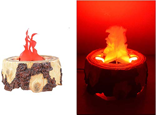 Beacon Pet Electric LED Flame 3D Fake Fire Lamp Eeffect Torch Light Campfire Centerpiece for Halloween Christmas Party Holiday Decoration (Resin Flame Lamp)